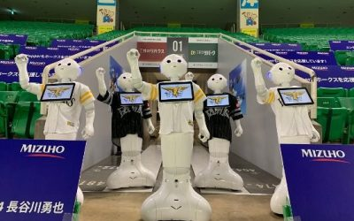 Varios robots animarán desde la grada a un equipo de béisbol japonés