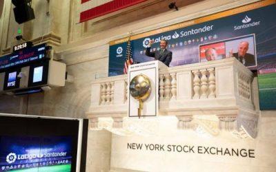LaLiga Santander toca la campana y abre la sesión de Wall Street